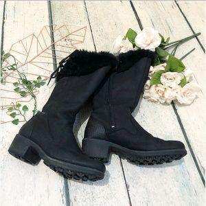 Merrell 8 black winter boots zipper waterproof